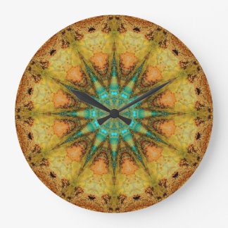 Copper Patina Mandala 01569-4 Clocks