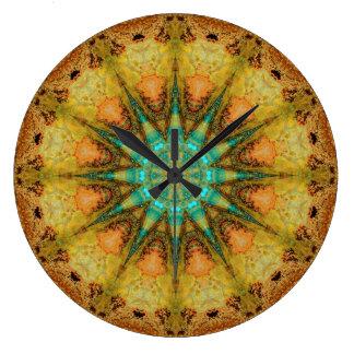 Copper Patina Mandala 01569-4 Large Clock