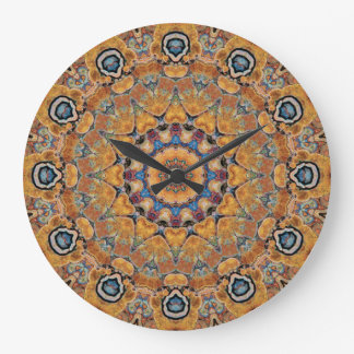Copper Patina Mandala 0158-4 Clocks