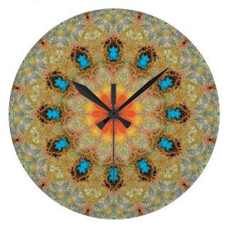 Copper Patina Mandala 06106-3 Large Clock