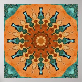 Copper Patina Mandala Print