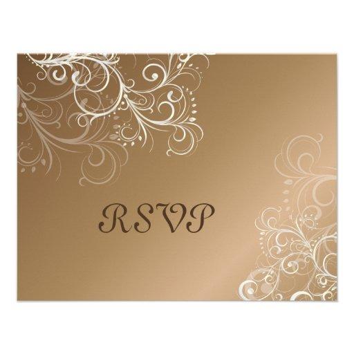 Copper/Pearl swirls RSVPs require 5x7 invitations