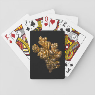 Copper Photo on Black Background Playing Cards