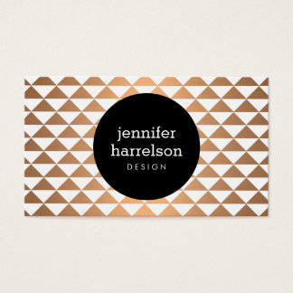 Copper Prism Modern Business Card