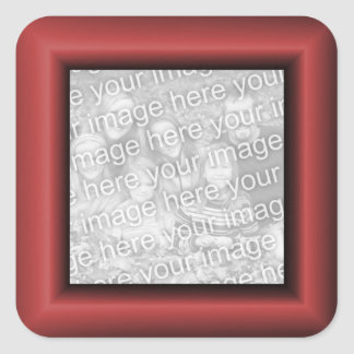 Copper Red Border Square Sticker