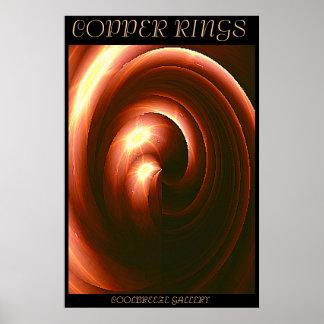COPPER RINGS PRINT