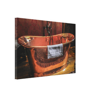 Copper Rolled-top bath tub Canvas Print