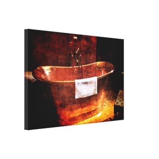 Copper Rolled-top bathtub Canvas Print
