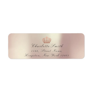 Copper Rose Glitter RSVP Crown Princess Bridal