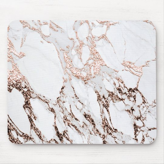 Copper Rose Gold Blush White Molten Stone Marble