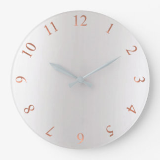 Copper Rose Gold Glitter Gray Silver US UK Numbers Large Clock