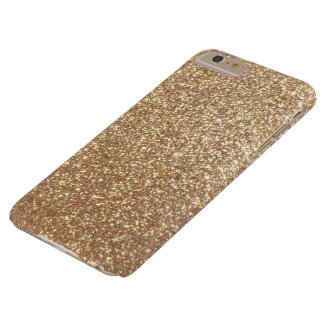 Copper Rose Gold Metallic Glitter Barely There iPhone 6 Plus Case