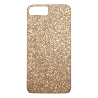Copper Rose Gold Metallic Glitter iPhone 8 Plus/7 Plus Case