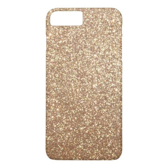 Copper Rose Gold Metallic Glitter iPhone 8 Plus/7