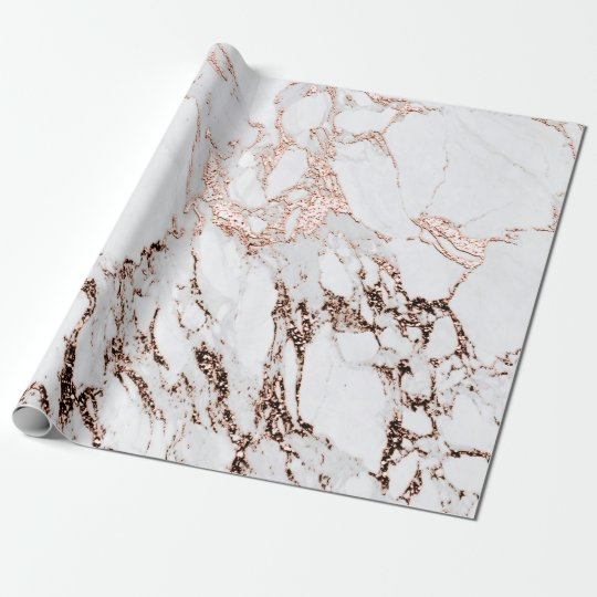 Copper Rose White Metal Gray Carrara Marble Stone