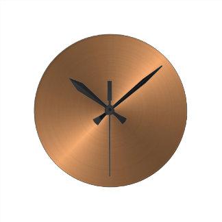 Copper Round Clock