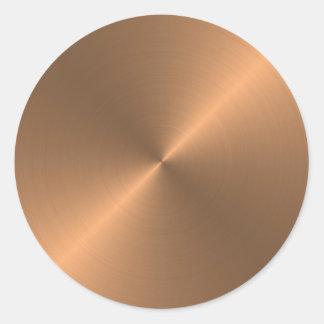 Copper Round Sticker