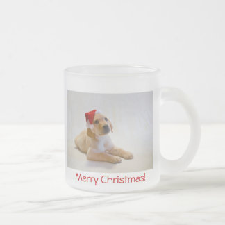 """Copper"" says Merry Christmas! Frosted Glass Mug"