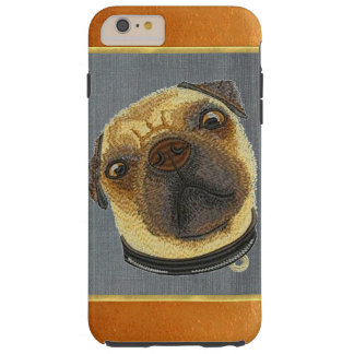 Copper Shimmer Pug Doggie iPhone 6 Plus Case