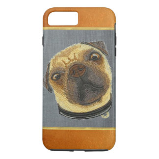 Copper Shimmer Pug Doggie iPhone 7 Plus Case