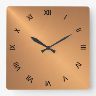 Copper Shine Black Roman Numerals Wallclocks