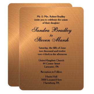 Copper Shine Wedding Invitation