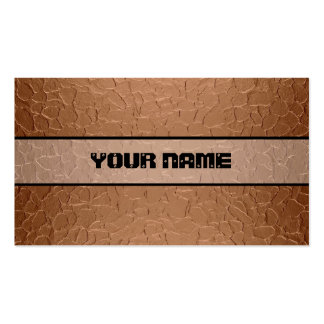 Copper Shiny Stainless Steel Metal 2 Pack Of Standard Business Cards