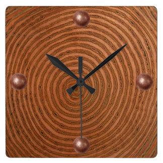 Copper Spiral Clocks