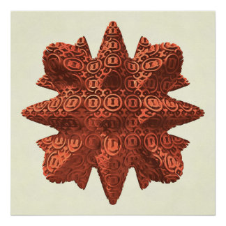 Copper Star Poster