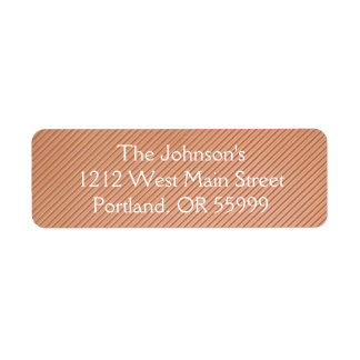 Copper striped design return address label