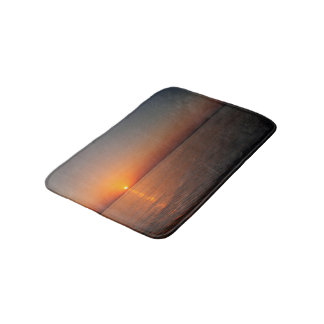 COPPER SUNSET,  PEACEFUL OCEAN WATER BATH MAT