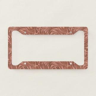 Copper Swirles License Plate Frame
