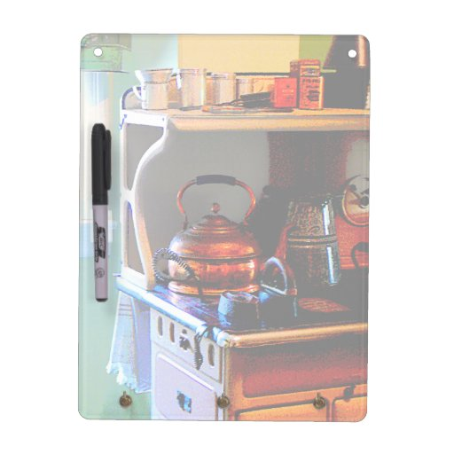 Copper Tea Kettle on Stove Dry Erase Whiteboards