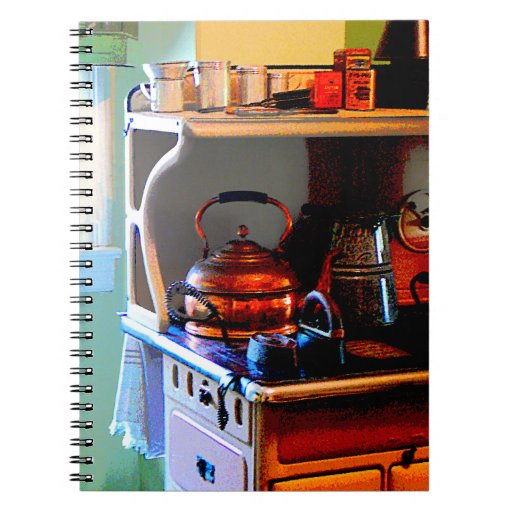 Copper Tea Kettle on Stove Journals