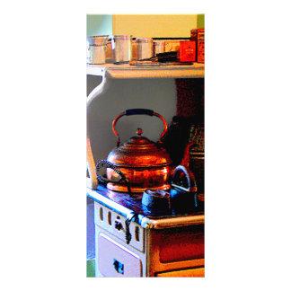 Copper Tea Kettle on Stove Custom Rack Cards