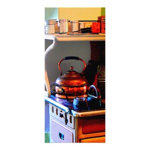 Copper Tea Kettle on Stove Customized Rack Card