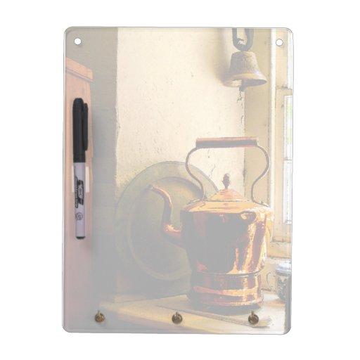Copper Tea Kettle on Windowsill Dry-Erase Board