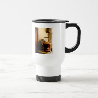 Copper Tea Kettle on Windowsill Stainless Steel Travel Mug