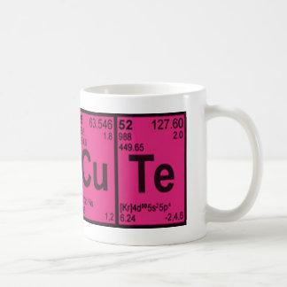 "Copper Tellurium ""CuTe"" Hot Pink Girls Geek Nerdy Coffee Mug"