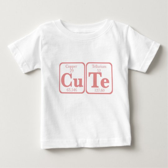 Copper Tellurium (CuTe) -- Pink Baby T-Shirt