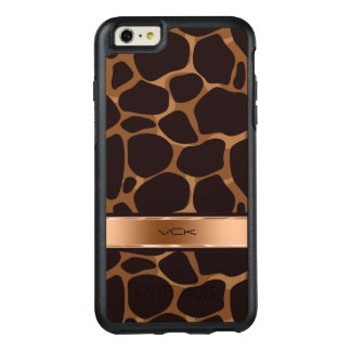 Copper Tones Stylized Leopard Pattern OtterBox iPhone 6/6s Plus Case