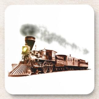 Copper Train Coaster