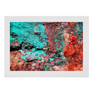 Copper Turquoise Print