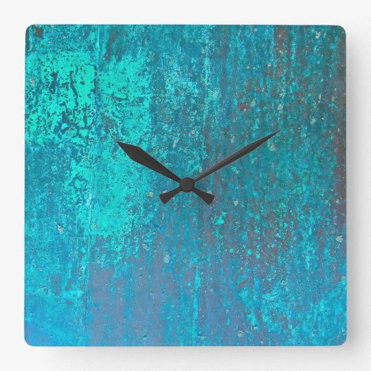 copper verdigris teal abstract modern art design square
