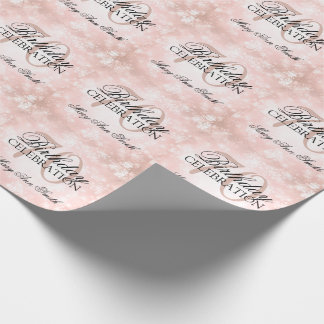 Copper Winter Wonderland 70th Birthday Party Wrapping Paper