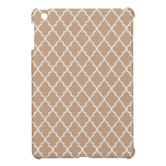 Coppertone Brown Maroccan Trellis - Quatrefoil Cover For The iPad Mini