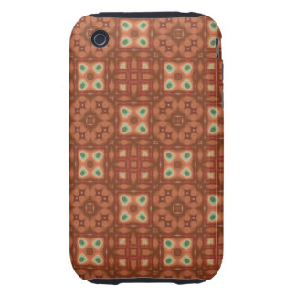 Coppery Quilt Digital Art Abstract Tough iPhone 3 Cases