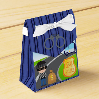 Cops and Robbers Birthday Party Guest Thank You Favour Box