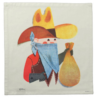 Cops and Robbers Cloth Napkins