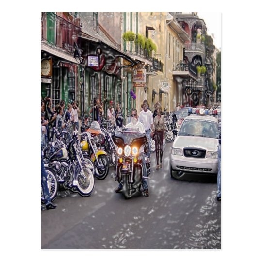 Cops, Bikers, and Voodoo Postcard